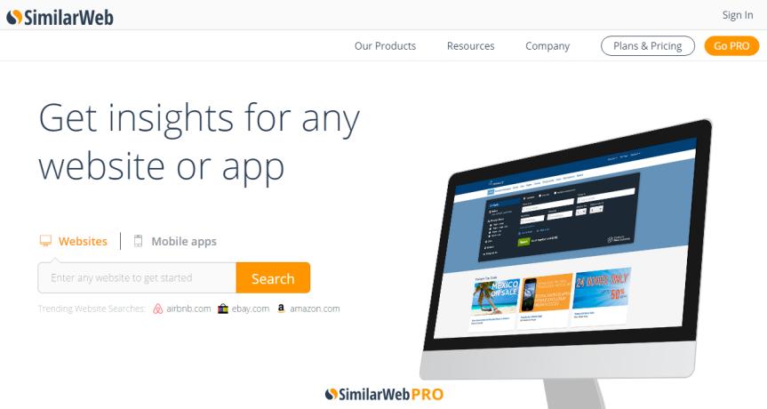Tất tần tật công cụ phân tích website SimilarWeb